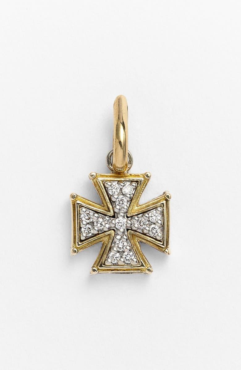 KONSTANTINO 'Classics' Diamond Cross Charm, Main, color, SILVER/ GOLD