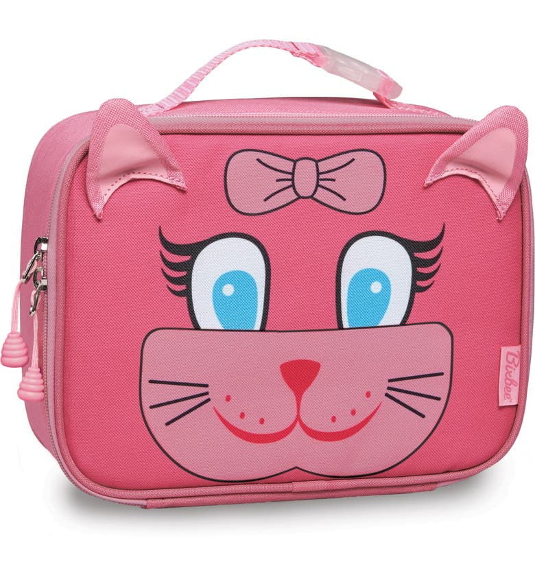 BIXBEE Kitty Water Resistant Lunchbox, Main, color, PINK