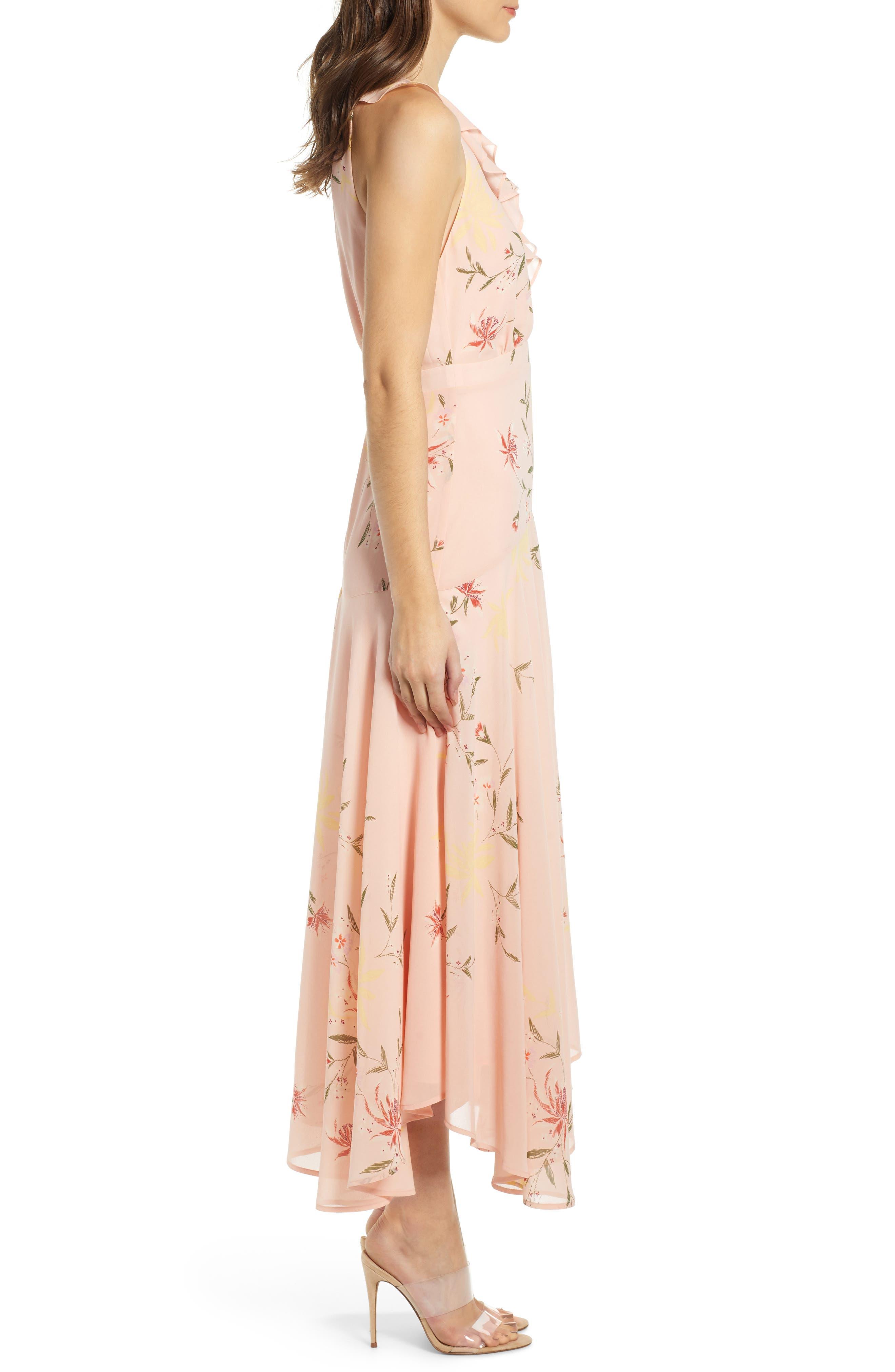 ,                             Ruffle Detail High/Low Sleeveless Maxi Dress,                             Alternate thumbnail 4, color,                             950