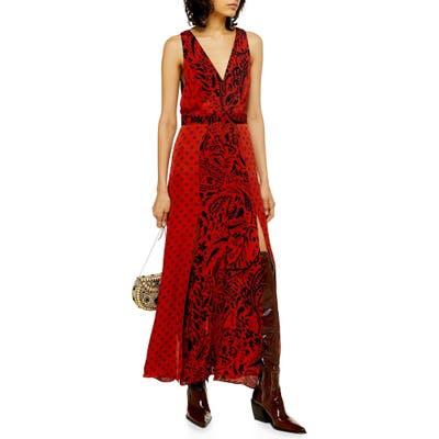 Topshop Mix Print Sleeveless Dress, US (fits like 0) - Red