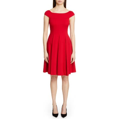 Emporio Armani Off The Shoulder A-Line Dress, US / 44 IT - Red