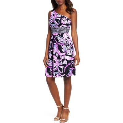 Lilly Pulitzer Malia One-Shoulder Dress, Black