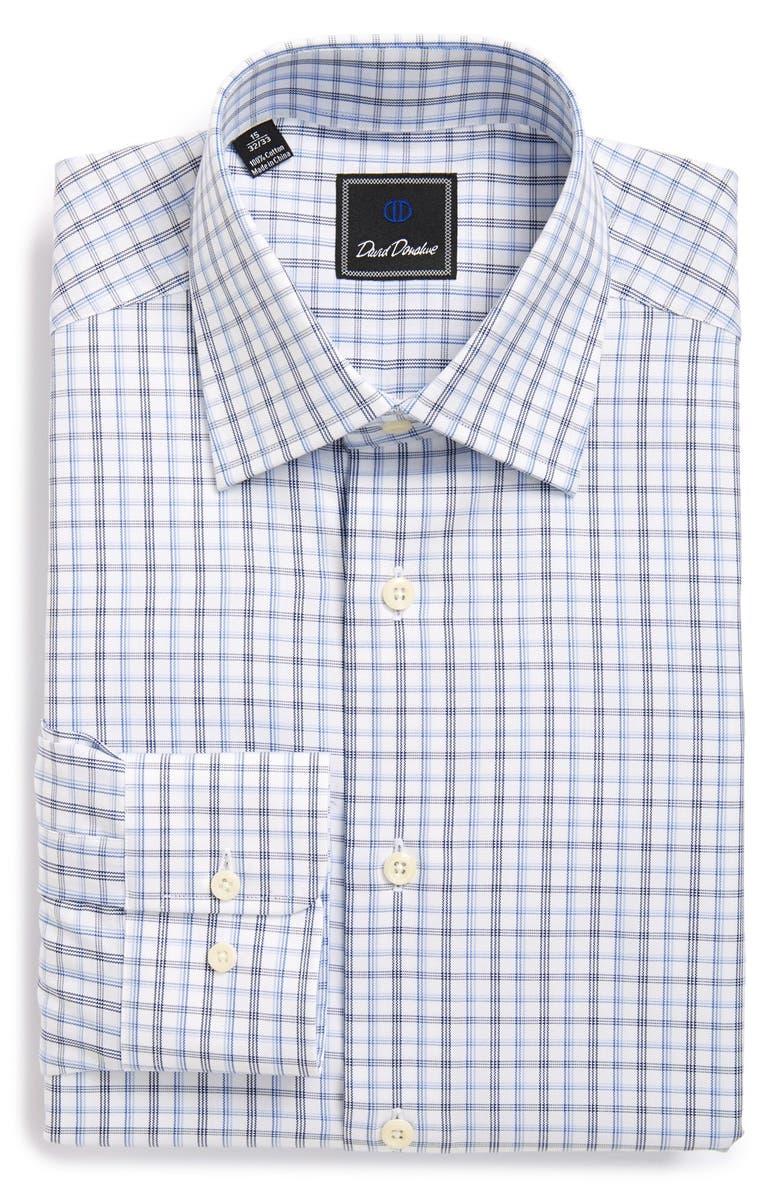 DAVID DONAHUE Regular Fit Check Dress Shirt, Main, color, 423