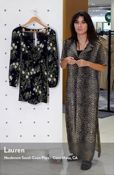 Wilder Floral Long Sleeve Minidress, sales video thumbnail