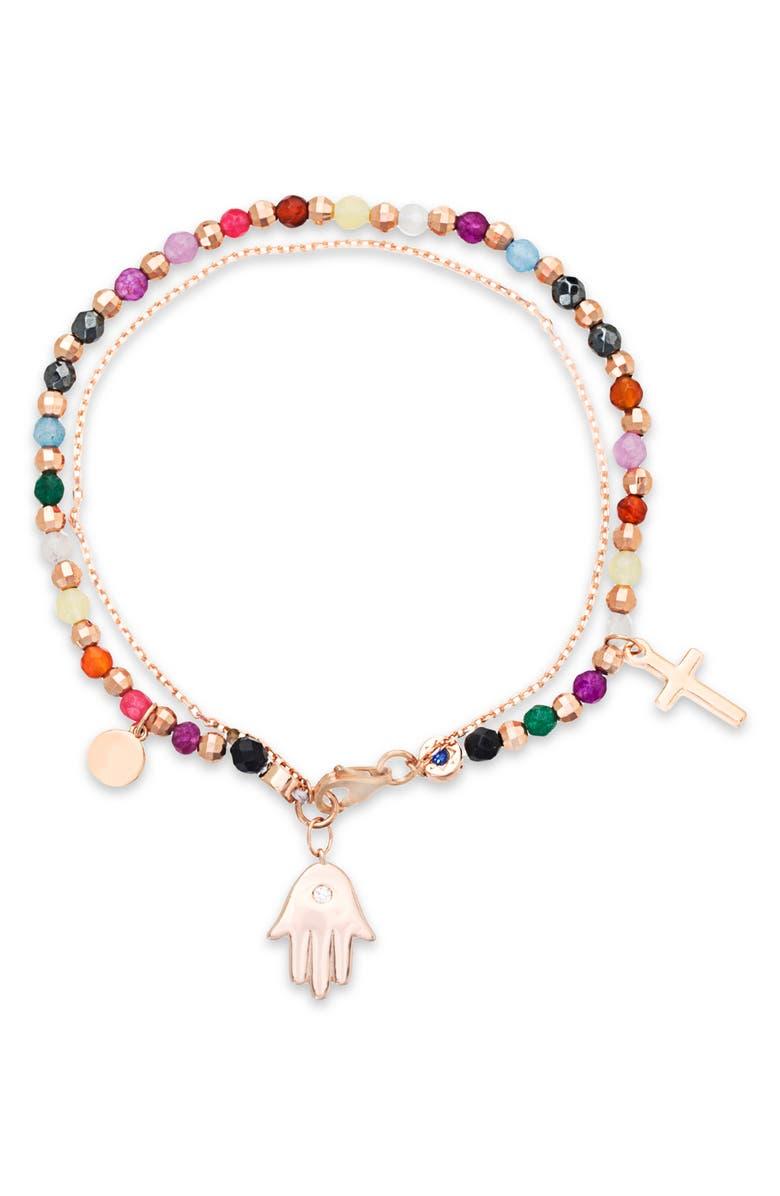 LESA MICHELE Talisman Charm Bracelet, Main, color, 710