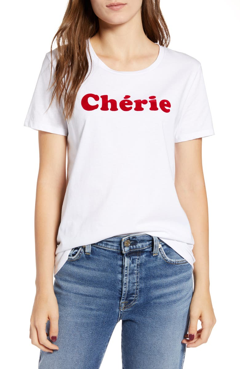 FRENCH CONNECTION Chérie Tee, Main, color, 100