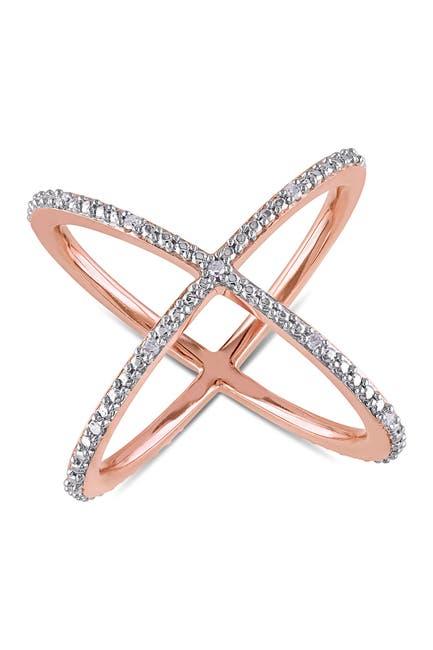 Image of Delmar White Diamond Axis Ring - 0.10 ctw