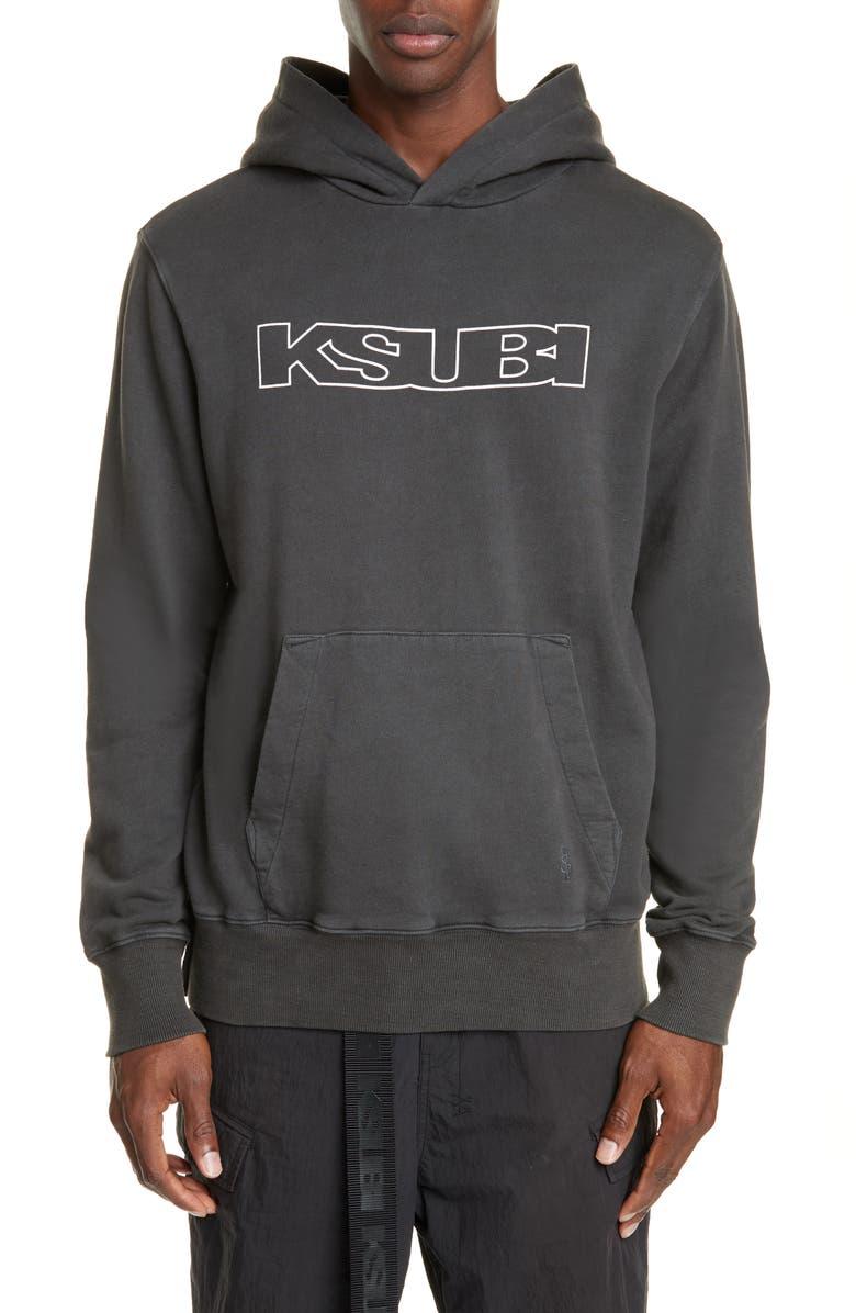 KSUBI Sign of the Times Hooded Sweatshirt, Main, color, BLACK