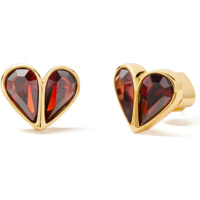 Kate Spade New York Rock Solid Small Heart Stud Earrings