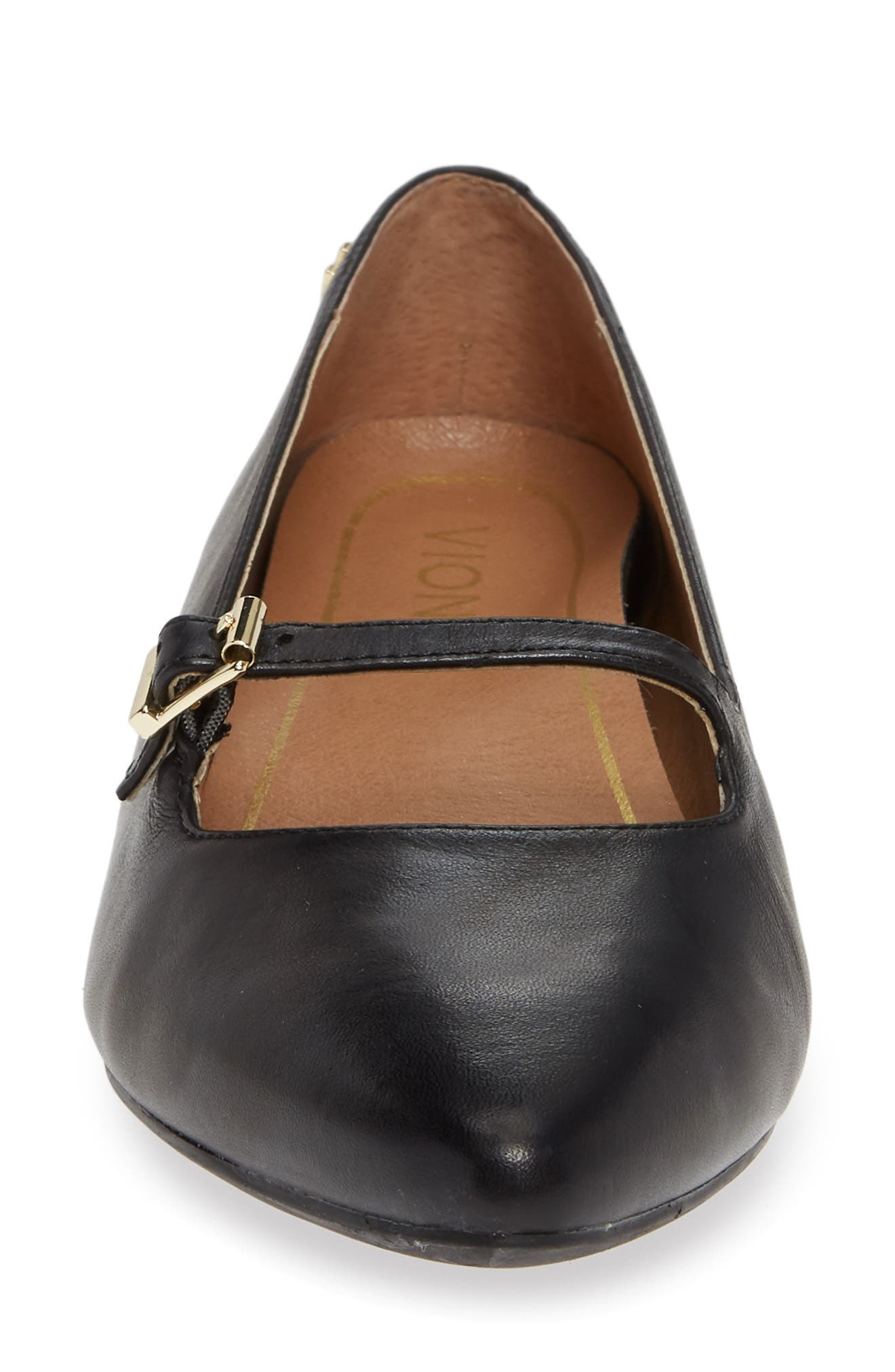 ,                             Delilah Flat,                             Alternate thumbnail 4, color,                             BLACK LEATHER