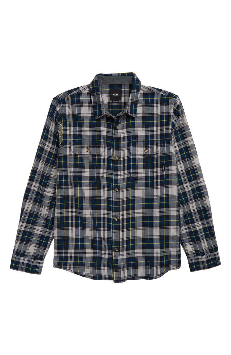 VANS Sycamore Plaid Flannel Shirt, Main, color, GIBRALTAR SEA