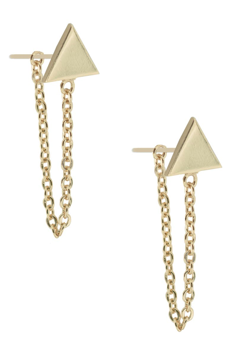 UNCOMMON JAMES BY KRISTIN CAVALLARI Refinery Triangle Earrings, Main, color, GOLD