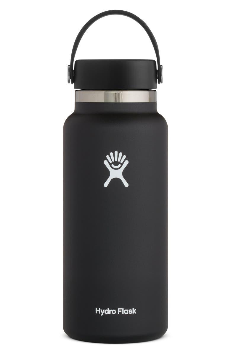 HYDRO FLASK 32-Ounce Wide Mouth Cap Bottle, Main, color, BLACK 2.0
