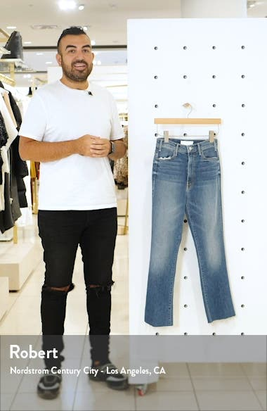 The Hustler High Waist Fray Ankle Flare Jeans, sales video thumbnail