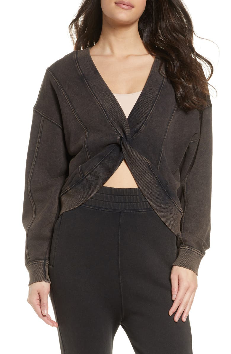 FREE PEOPLE FP MOVEMENT Go for Gold Reversible Sweatshirt, Main, color, 001