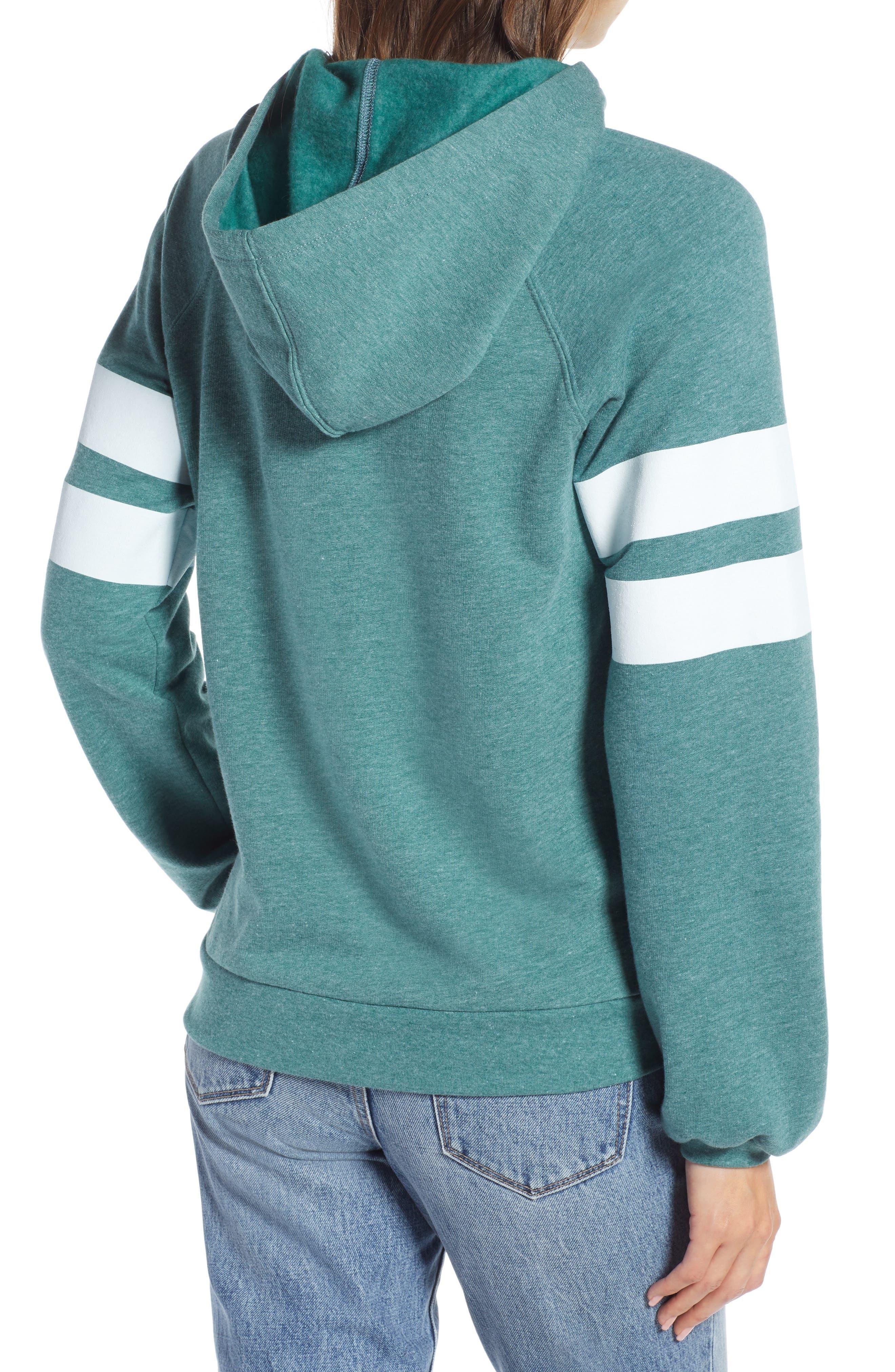 ,                             Varsity Stripe Hoodie,                             Alternate thumbnail 8, color,                             301