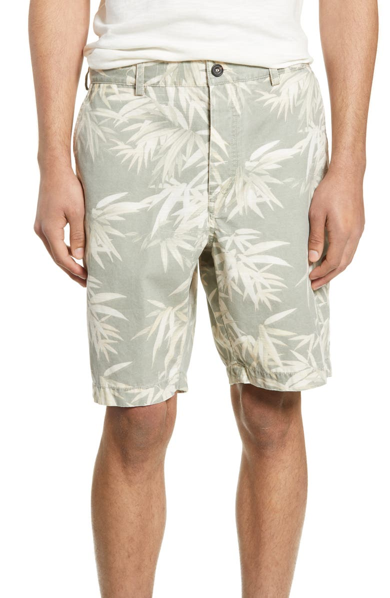 FRENCH CONNECTION Bamboo Print Shorts, Main, color, 023