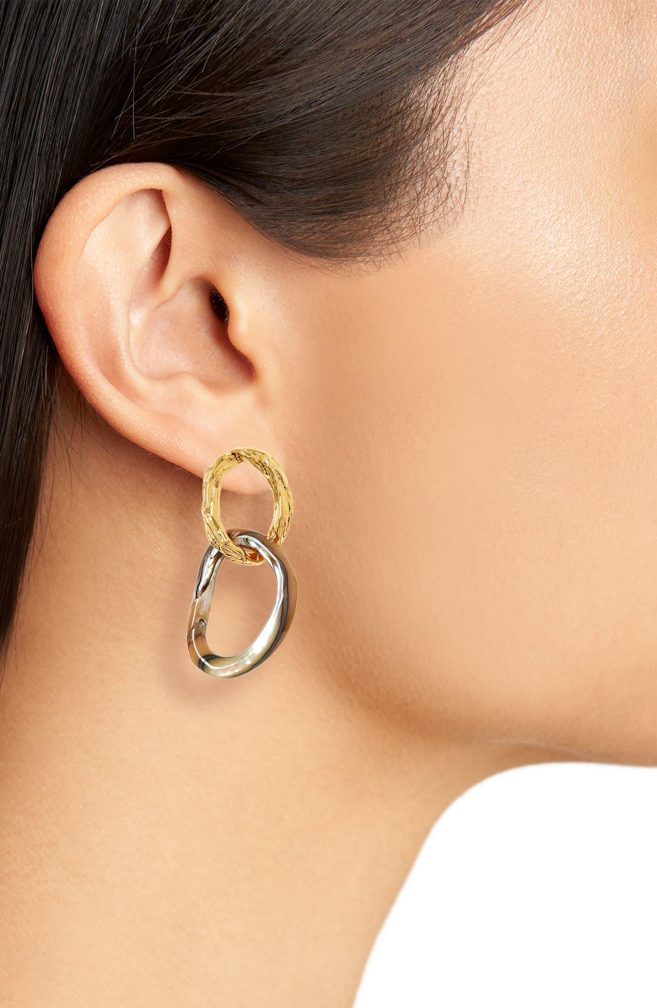 ,                             Loto Drop Earrings,                             Alternate thumbnail 2, color,                             ABALONE SHELL/ GOLD