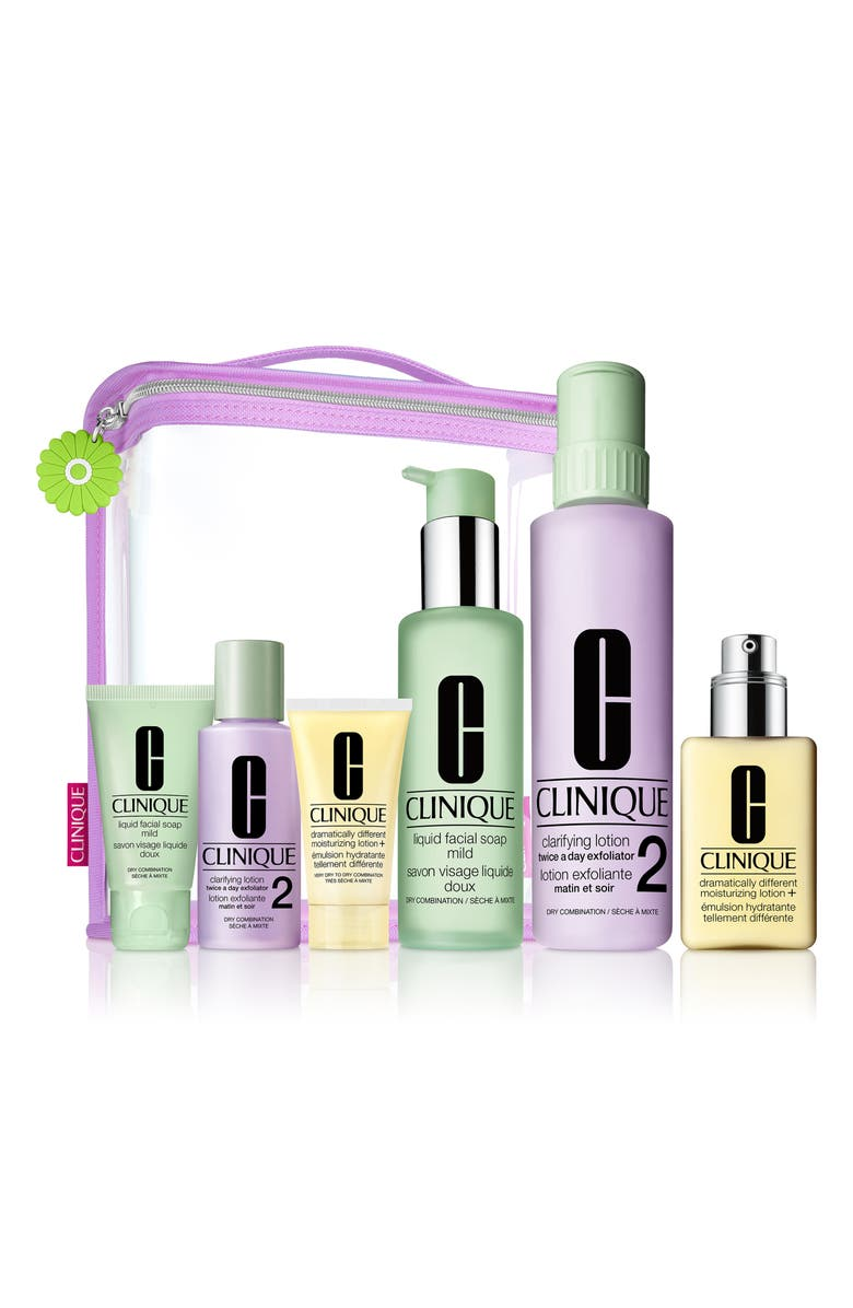 CLINIQUE Great Skin Everywhere Set for Very Dry to Dry Combination Skin Types, Main, color, 000