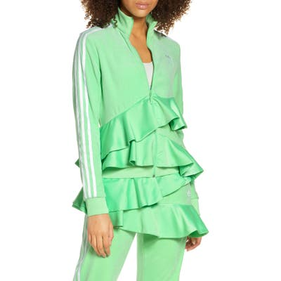 Adidas Originals Ruffle Track Jacket, Green