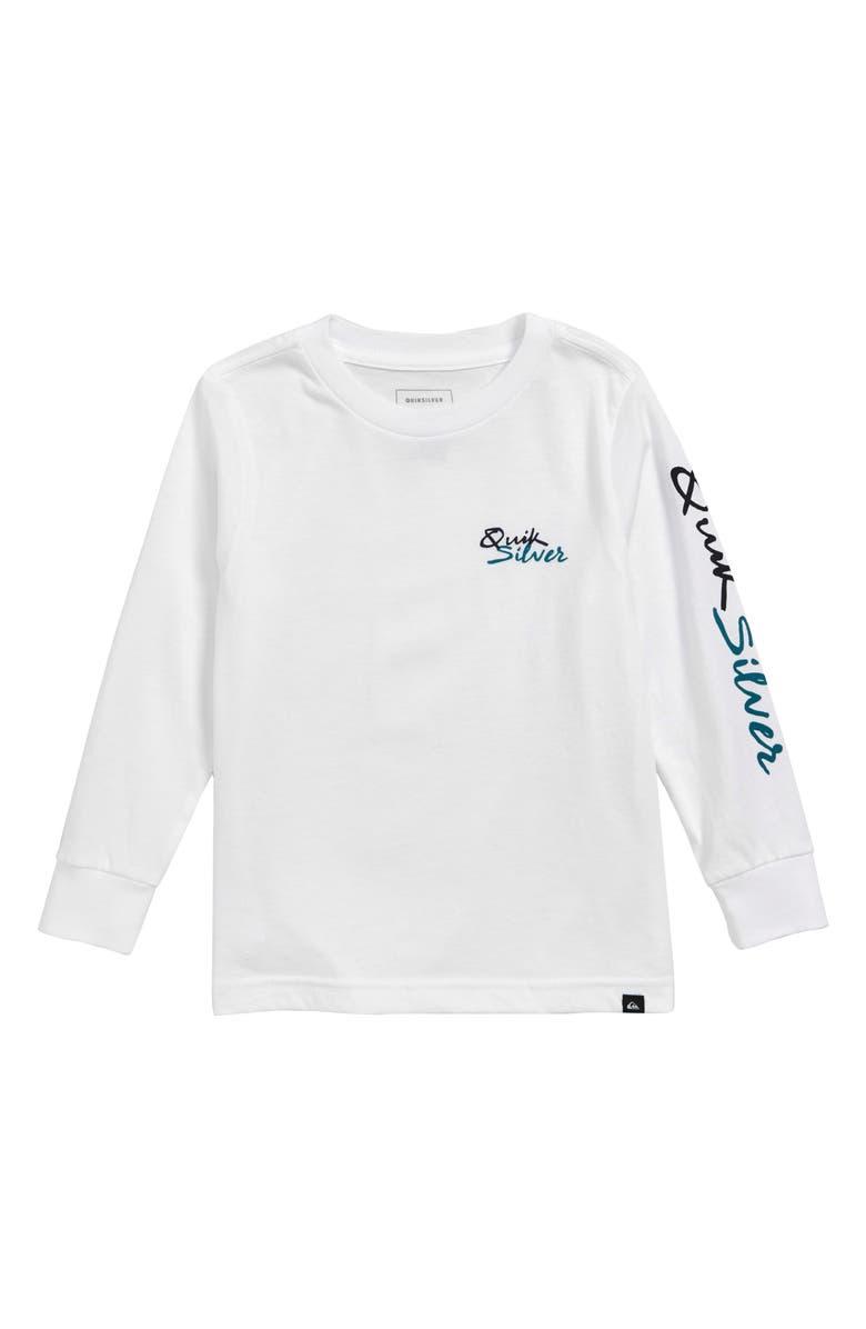 QUIKSILVER QS Script T-Shirt, Main, color, WHITE