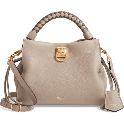 Mulberry Small Iris Leather Top Handle Bag - Grey