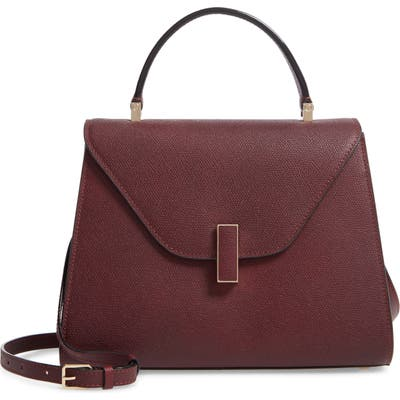 Valextra Iside Medium Top Handle Bag - Burgundy