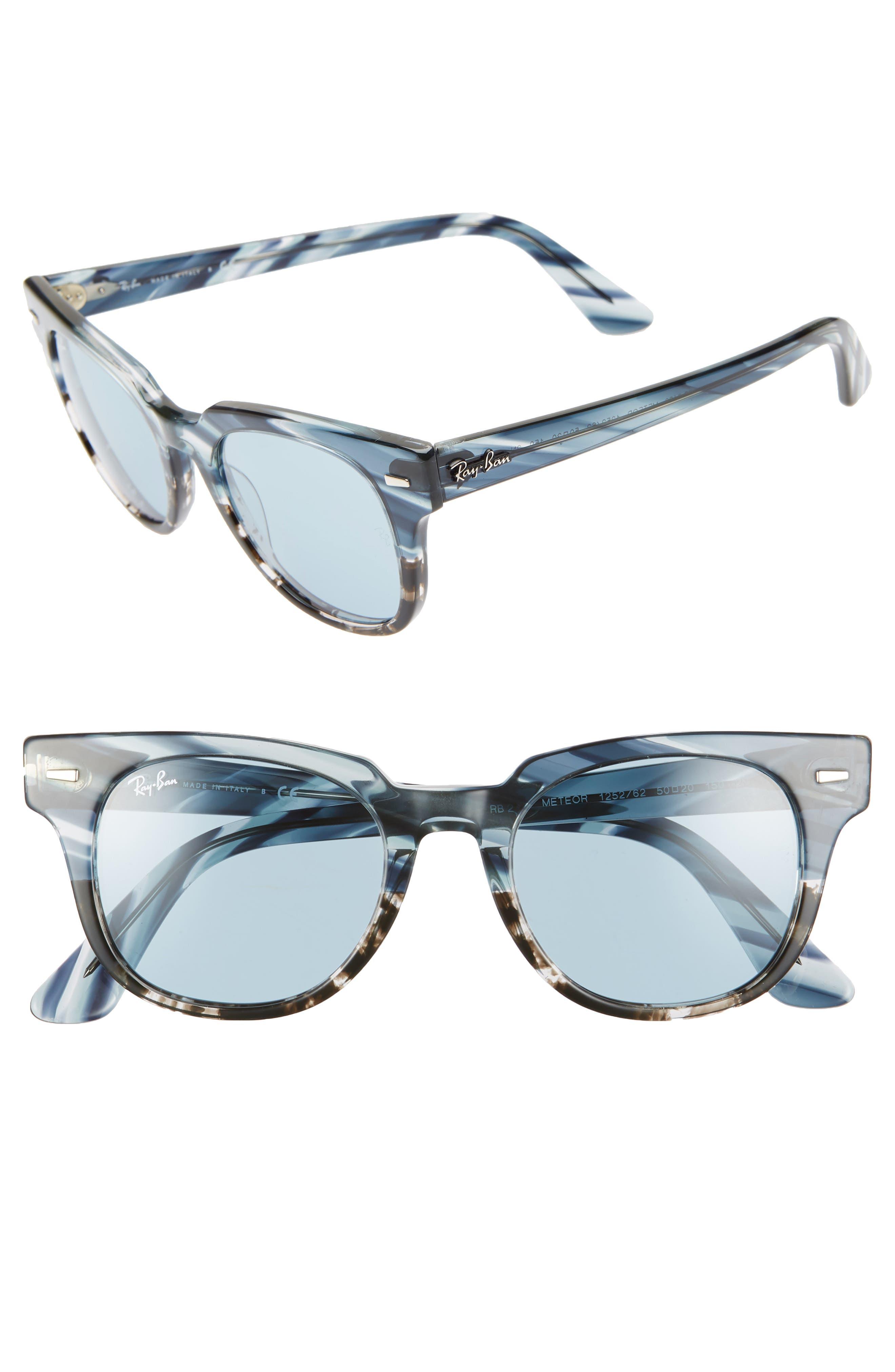 Ray-Ban Wayfarer 50Mm Square Sunglasses - Blue Gradient/ Grey