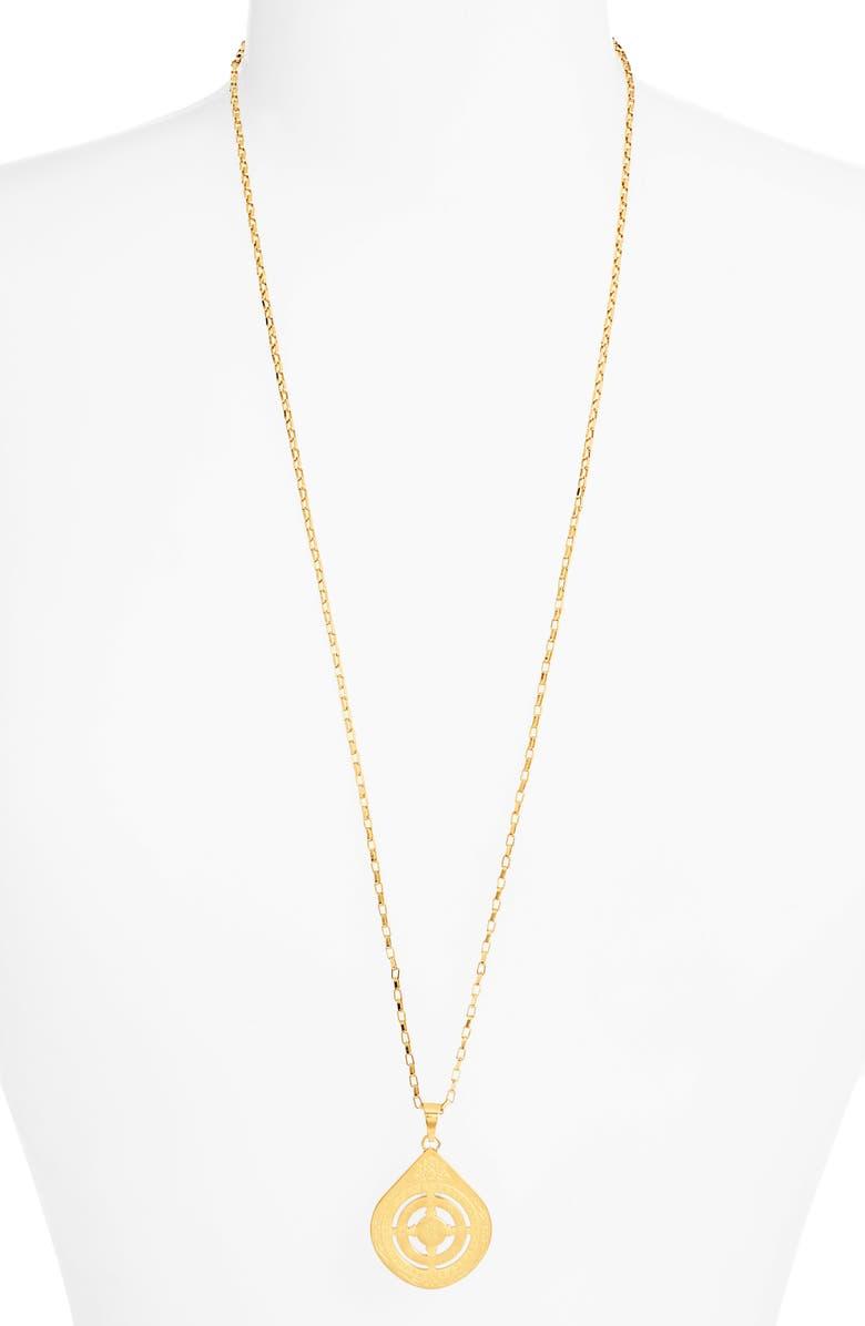 ELLIE VAIL Eden Buddha Necklace, Main, color, GOLD