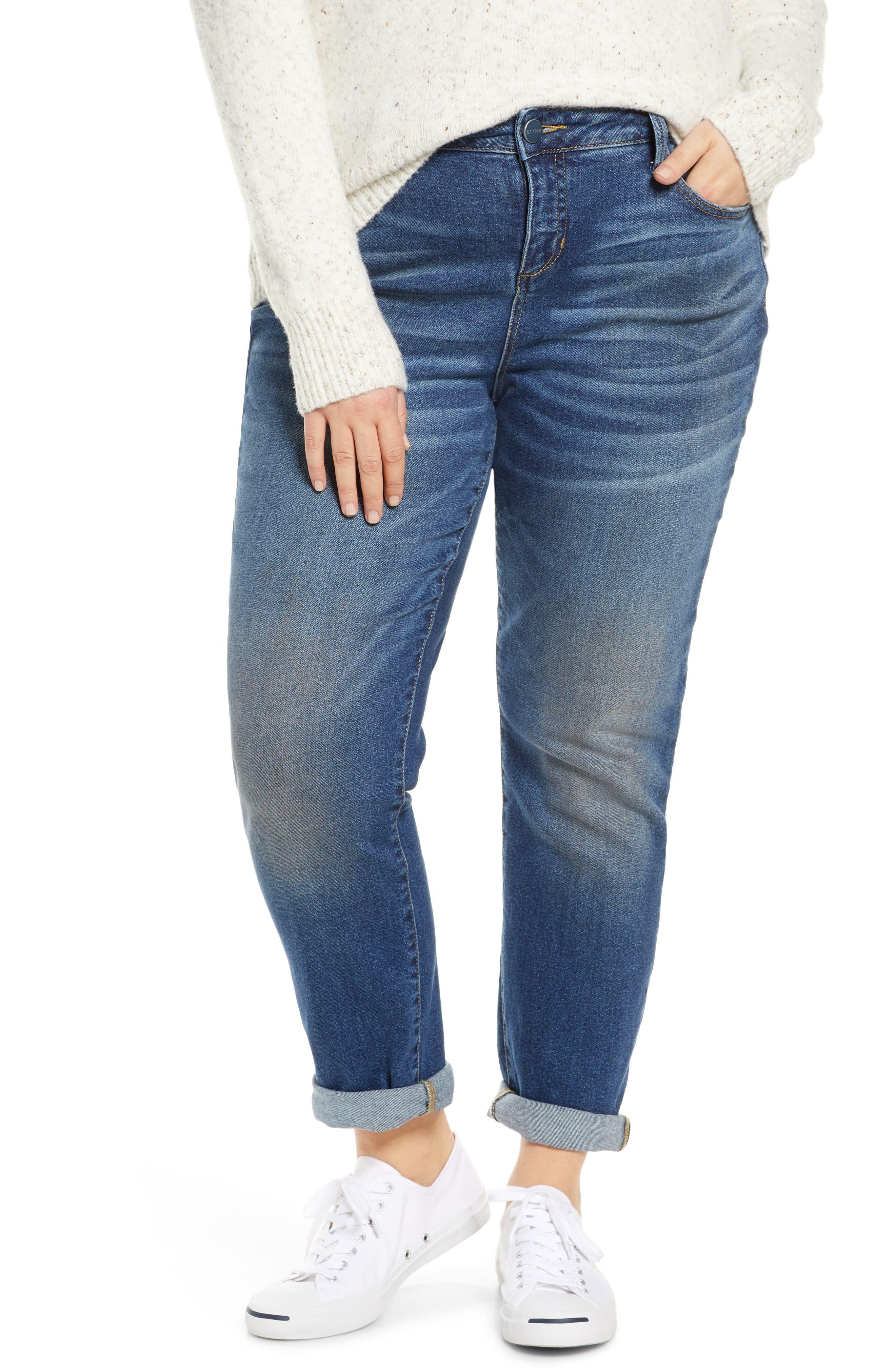 SLINK Jeans High Waist Boyfriend Jeans (Olivia) (Plus Size)