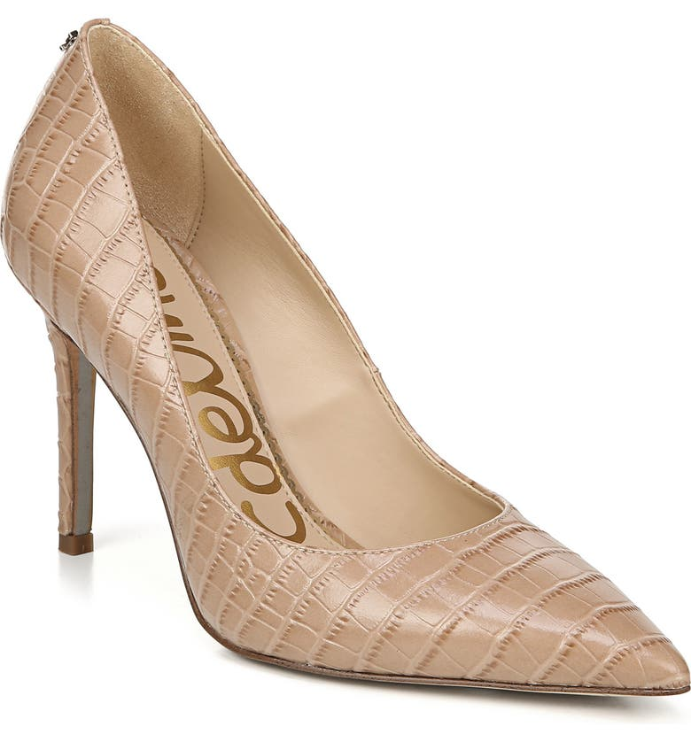 SAM EDELMAN Hazel Pointy Toe Pump, Main, color, TOASTED ALMOND