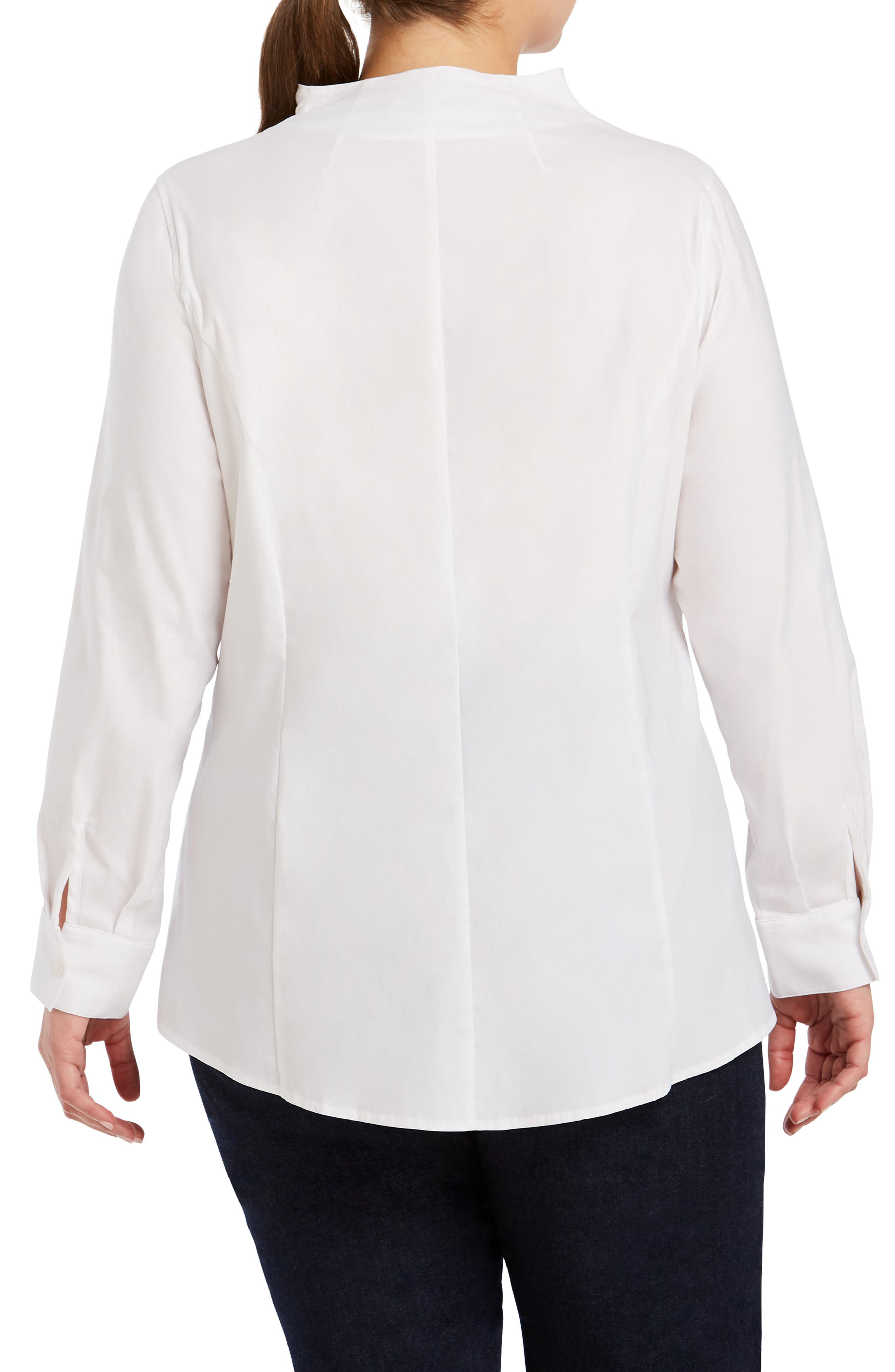 ,                             Selma Stretch Tunic Shirt,                             Alternate thumbnail 2, color,                             WHITE