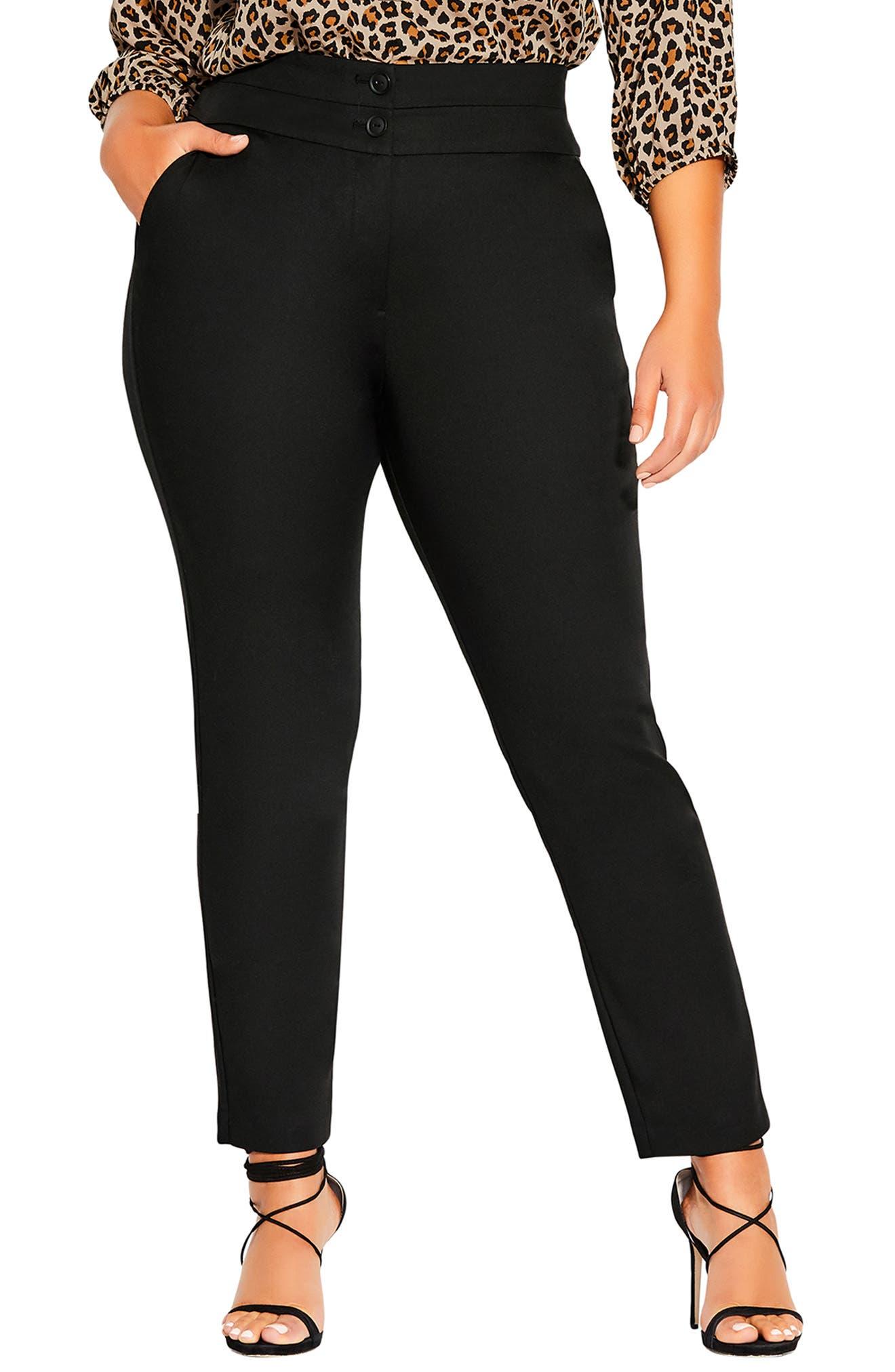 Plus Women's City Chic Affluent High Waist Ankle Pants