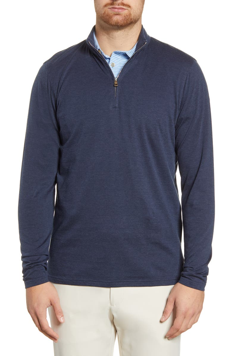 PETER MILLAR Charlton Quarter Zip Piqué Sweater, Main, color, 480