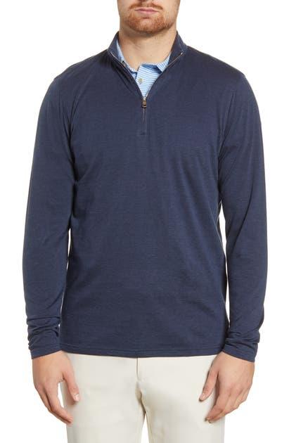 Peter Millar Sweaters CHARLTON QUARTER ZIP PIQUE SWEATER