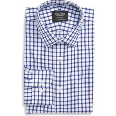 Nordstrom Shop Smartcare(TM) Traditional Fit Check Dress Shirt, Blue