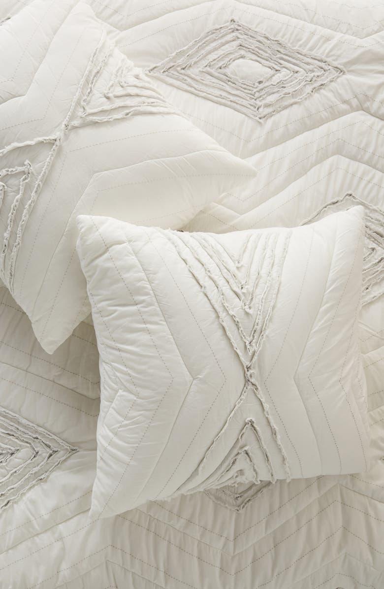 ANTHROPOLOGIE Blue Ridge Euro Pillow Sham, Main, color, 900