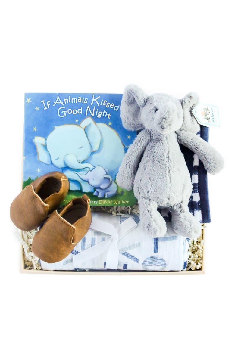 BOXFOX New Baby Boy Gift Box, Main, color, NUDE