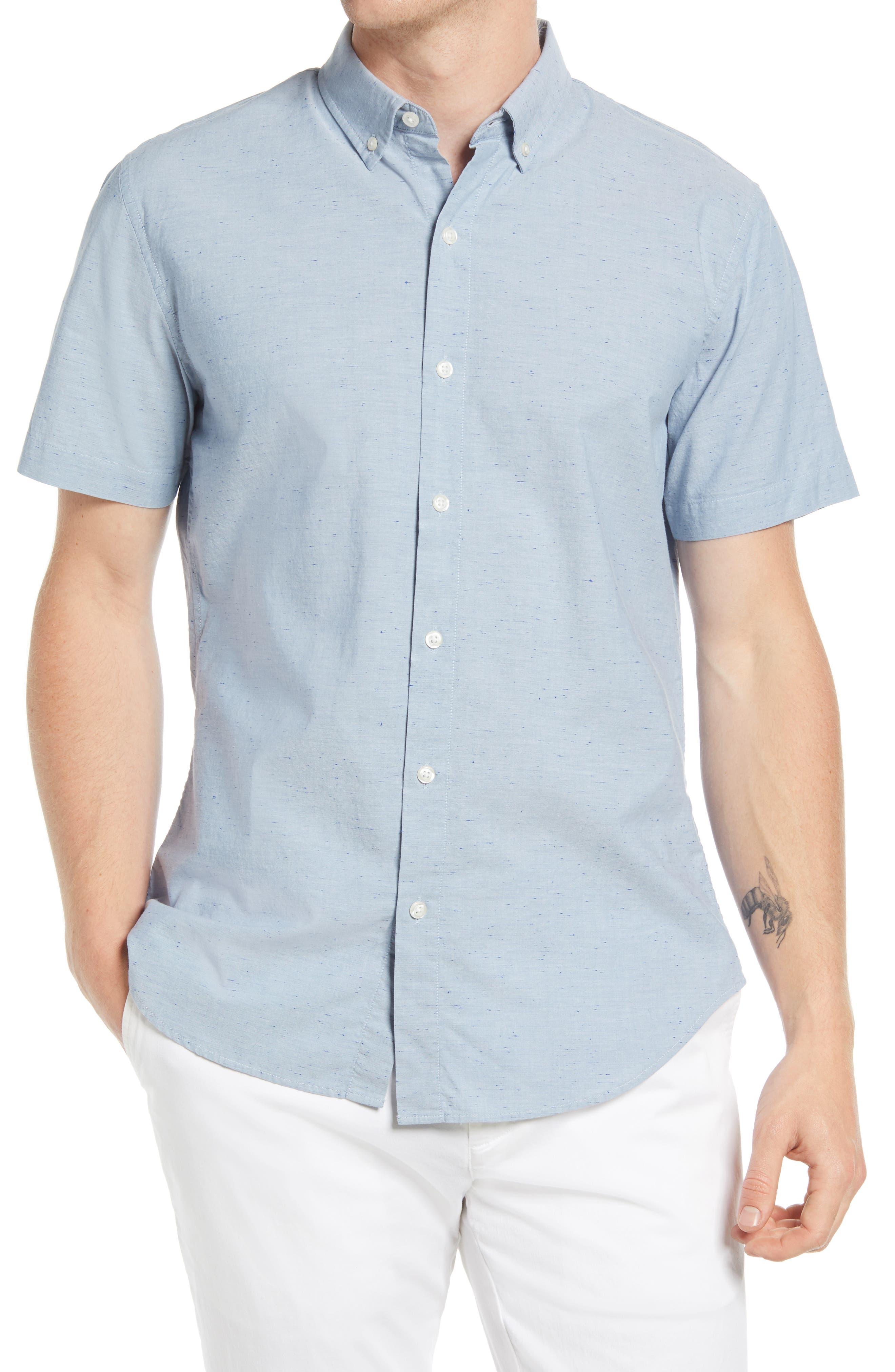Riviera Slim Fit Short Sleeve Button-Down Shirt