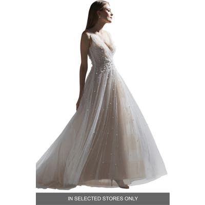 Watters Kodi Beaded Tulle Wedding Dress, Size IN STORE ONLY - Ivory