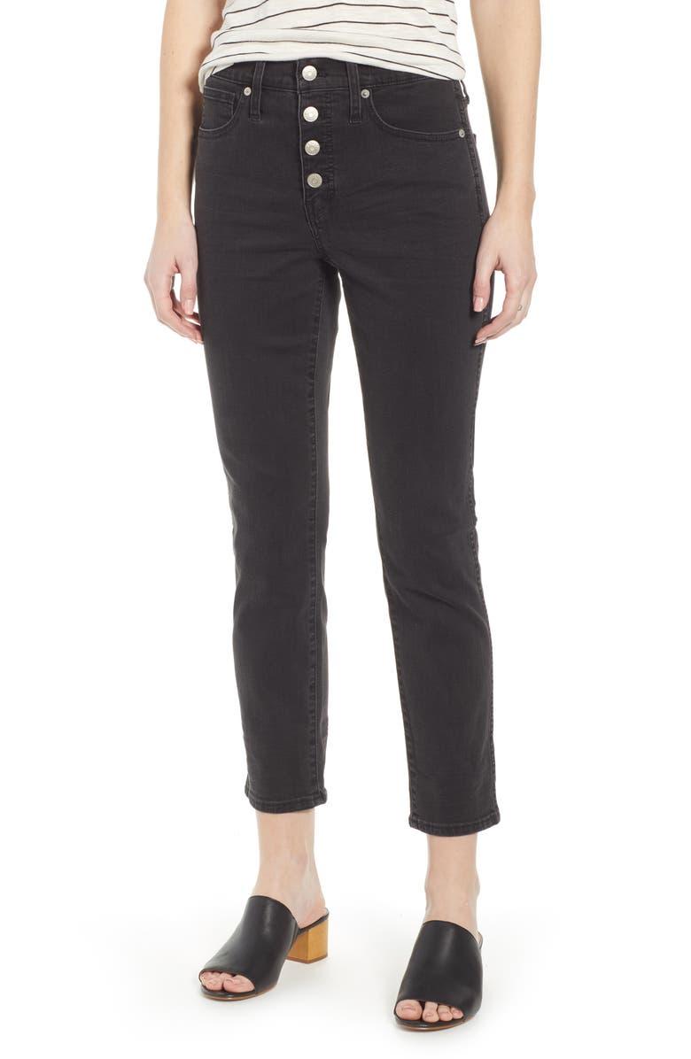 MADEWELL Slim Straight Leg Jeans, Main, color, LUNAR