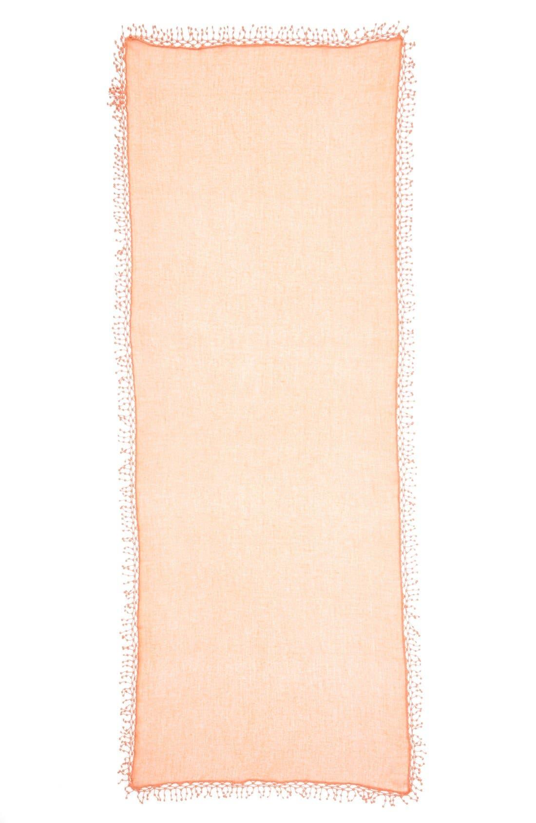 ,                             'Pompom' Cashmere Wrap,                             Alternate thumbnail 2, color,                             950