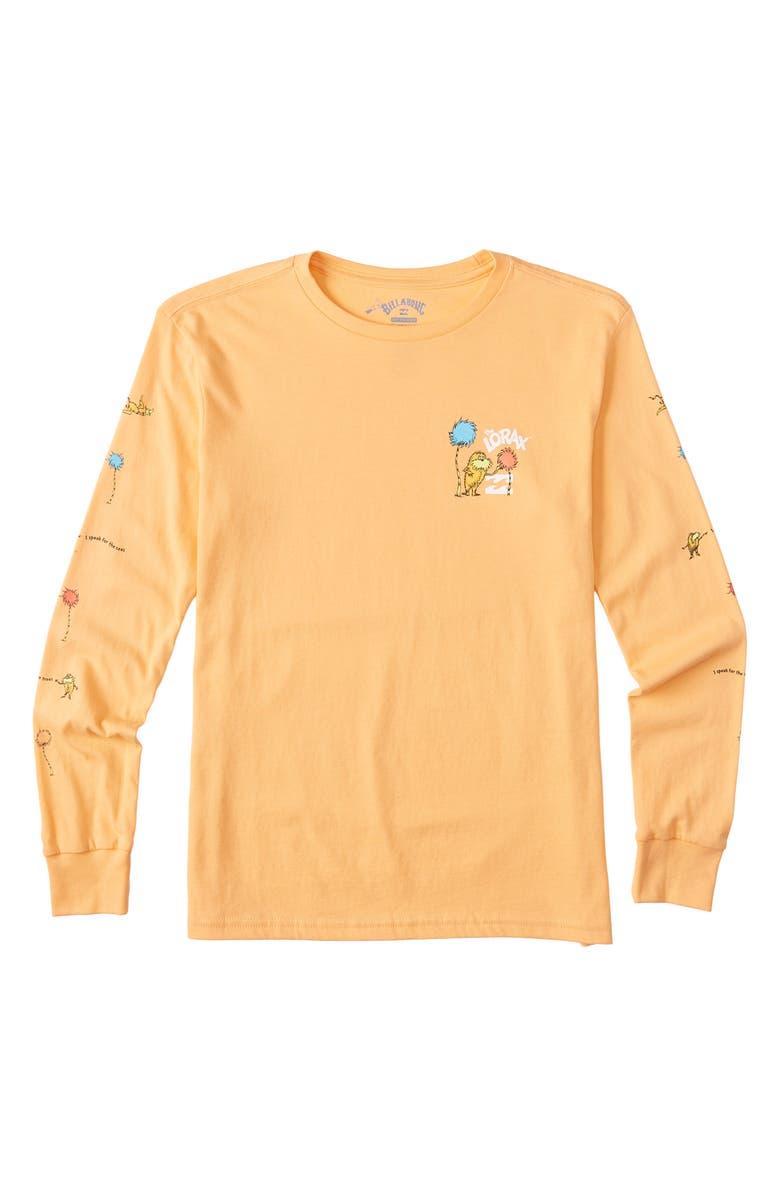 BILLABONG x Dr. Seuss The Lorax Long Sleeve Graphic Tee, Main, color, 808