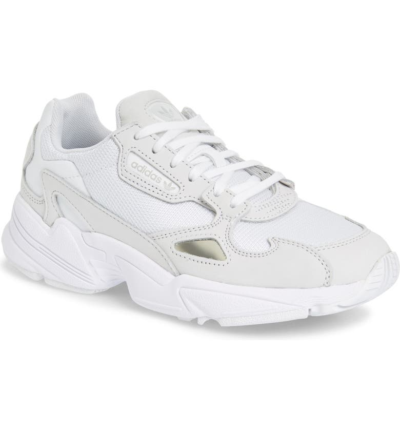 ADIDAS Falcon Sneaker, Main, color, WHITE