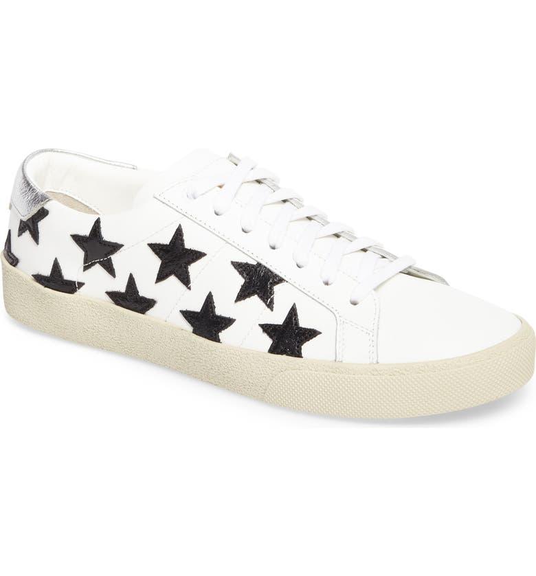 SAINT LAURENT Classic Court Sneaker, Main, color, WHITE/ BLACK