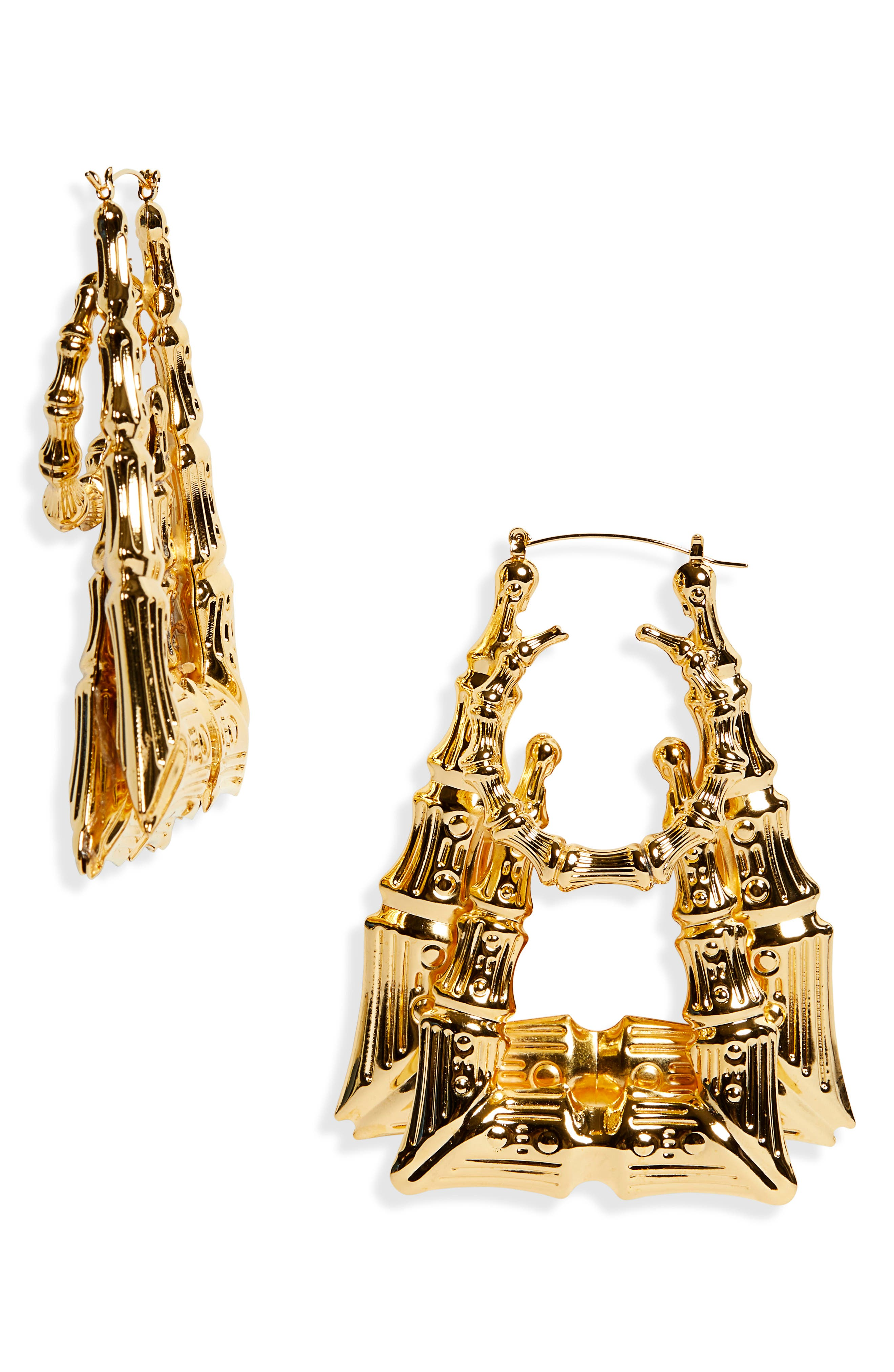 L'Enchanteur Sun Pyramid Hoop Earrings (Nordstrom Exclusive)