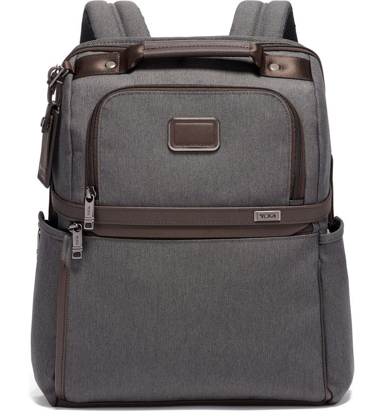 TUMI Alpha 3 Collection Slim Solutions Laptop Brief Pack, Main, color, ANTHRACITE