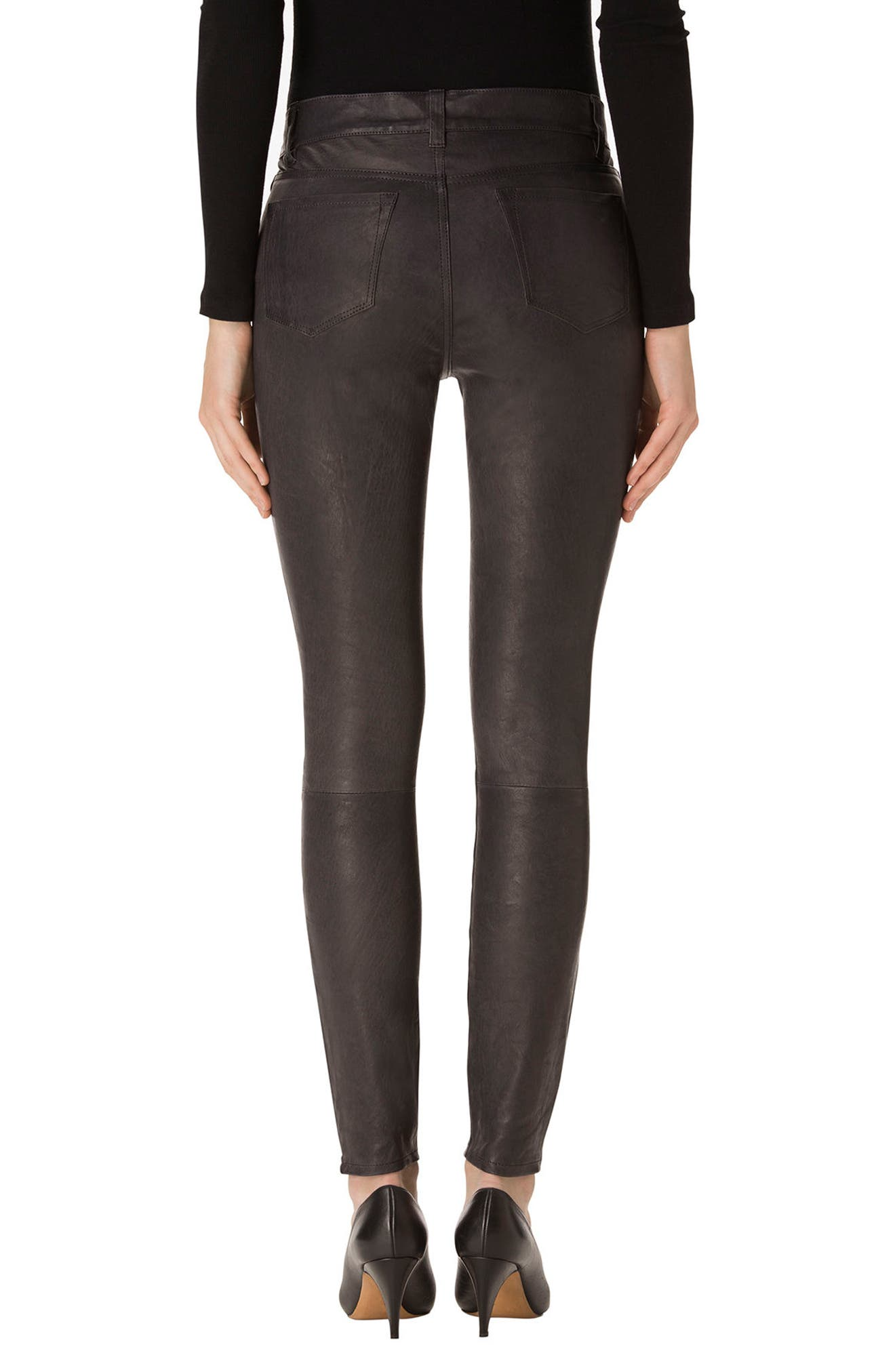 ,                             '8001' Lambskin Leather Pants,                             Alternate thumbnail 23, color,                             039