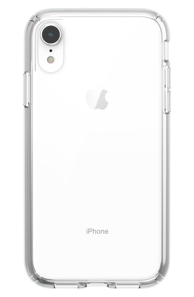 SPECK Presidio Stay Clear iPhone X/XS or XR Case, Main, color, CLEAR XR