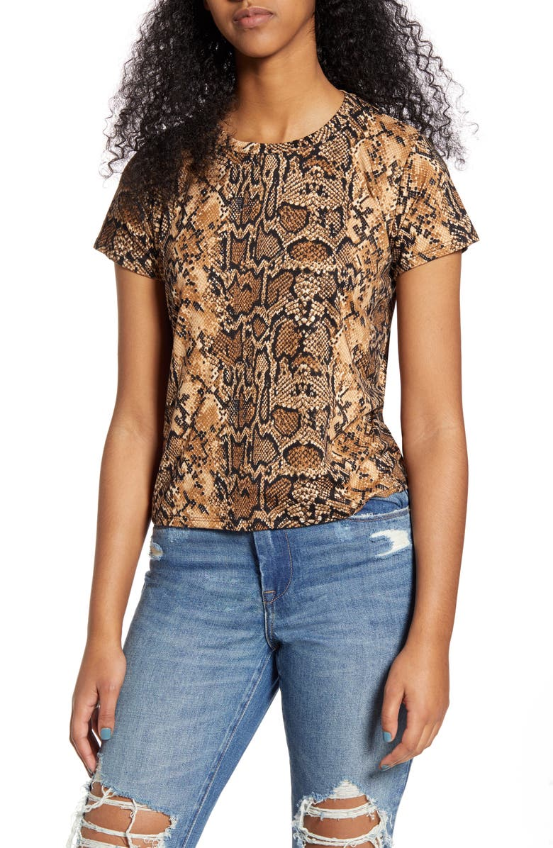 PRINCE PETER Python Print Tee, Main, color, BROWN